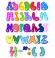 cheerful letters vector image vector image