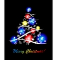 decorative card with tree vector image vector image