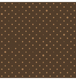 Coffee Brown Star Polka Dots Background vector image