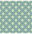arabic seamless blue and green pattern ramadan vector image