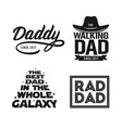 fathers day gift for dad t-shirt design set vector image