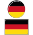 Germany round and square icon flag vector image