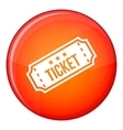 Movie ticket icon flat style vector image