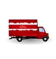 Red Small truck Silhouette vector image
