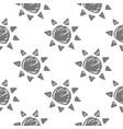 sun monochrome pattern vector image