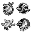 Roller Derby Monochrome Emblems vector image