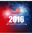 Presidential Election 2016 in USA Background Can vector image