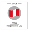 Peru Independence Day vector image