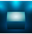 3d isolated empty blue podium vector image vector image