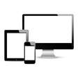 Modern Digital devices vector image