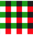 Green Red Black Chessboard Background vector image