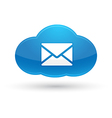 Cloud Computing Mail Icon vector image