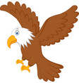 Eagle flying vector image