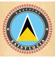 Vintage label cards of Saint Lucia flag vector image vector image