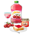 Cherry fruits and its uses vector image vector image