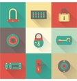 Locks icons vector image vector image