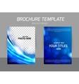 Blue flyer template design vector image vector image