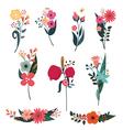 Elegant bouquets set vector image vector image