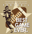 football best game vector image