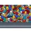 Graffiti Characters On Wall Pattern vector image