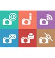 camera web icons set vector image