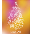 The taste of the electronic cigarette vector image