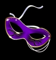 white purple carnival half-mask vector image vector image