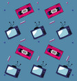 80s background style vector image