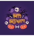 Day of the dead colorful card Halloween vector image