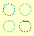 set of hand drawn wreaths hand drawn circular vector image