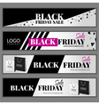 Set with Black friday sale banners vector image