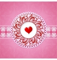 St Valentine greeting card design vector image