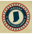 Vintage label Indiana vector image