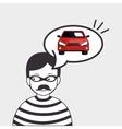 burglar criminal car icon vector image