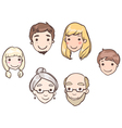 family heads vector image