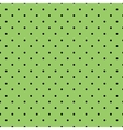Tile black polka dots on green background vector image vector image