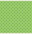 Tile black polka dots on green background vector image