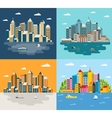 City flat style vector image