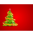 christmas glossy tree with red star vector image vector image