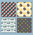 Art icons seamless pattern background atist ink vector image