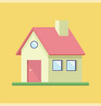 building house flat icon vector image