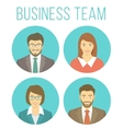 Business people avatars vector image