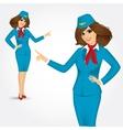 charming stewardess vector image