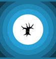 isolated tree monster flat icon terrible vector image