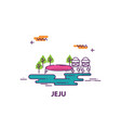 jeju island in south korea vector image