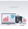 Laptop portfolio working process vector image