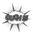 ouch comic text icon monochrome vector image