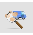 Search parcels vector image