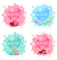 Set of four badge for Valentines Day vector image