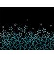 stars over black background vector image